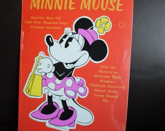 Minnie Mouse wall decal - new old stock