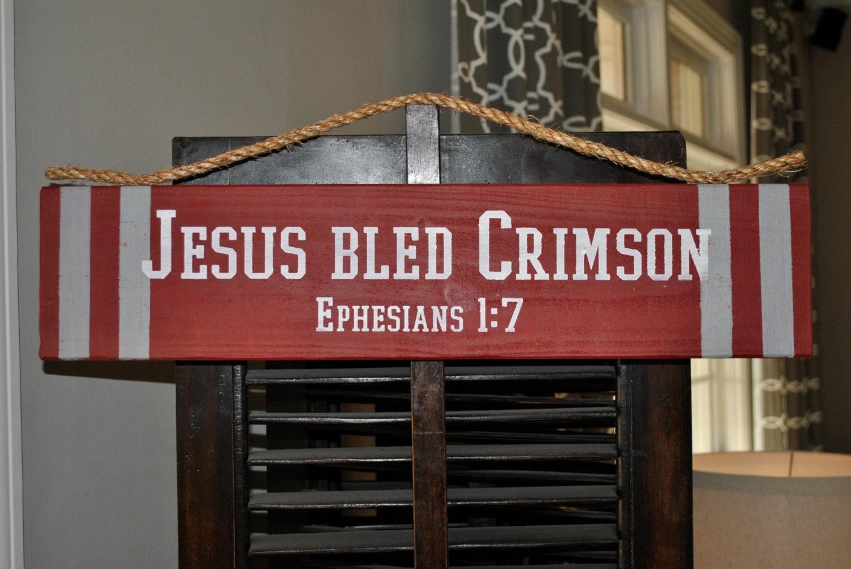 🔎zoom & JESUS BLED CRIMSON Door Hanger Ephesians 1:7 Pezcame.Com