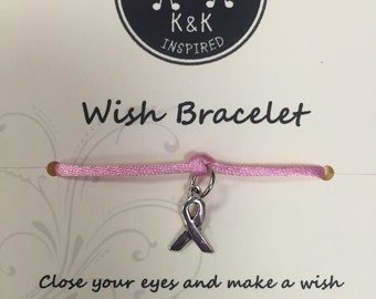 Breast Cancer Awareness Wish Bracelet