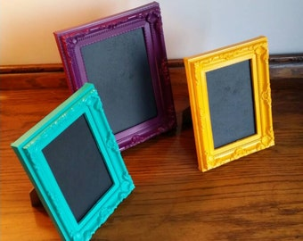 Bright baroque style picture frame/chalkboard 7 x 5