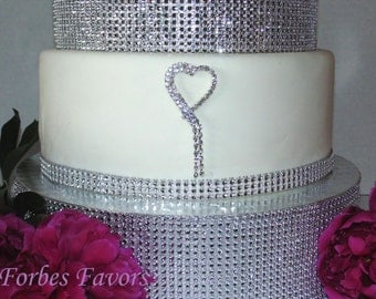 Rhinestone Shooting Heart Cake Push In