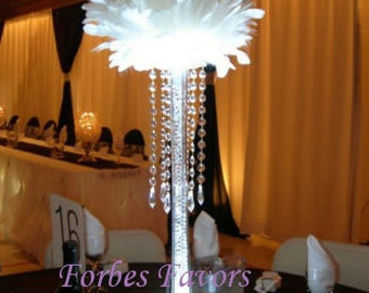 6 Hanging Crystal Garland with Crystal Pendant Wedding Centerpiece Decoration