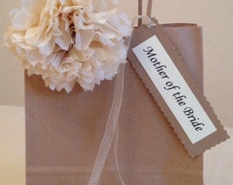 Beautiful Hand Finished Personalised Wedding Favour Gift Bag