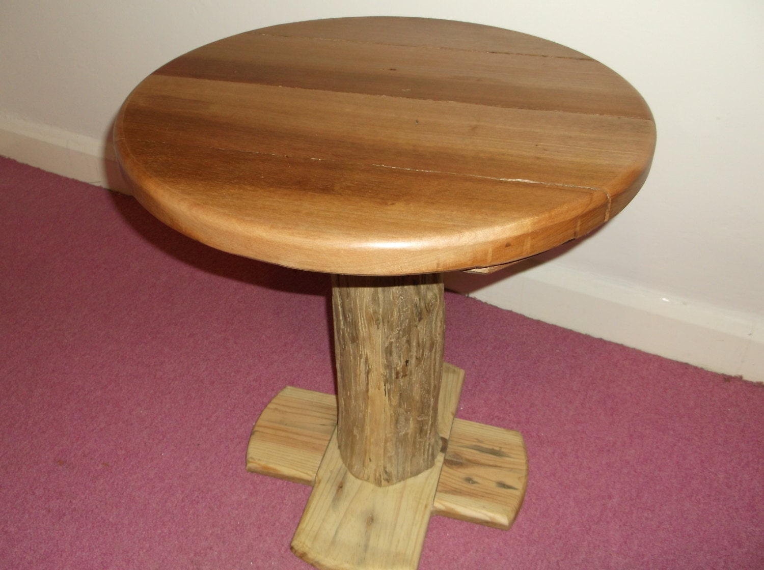 Round Driftwood Coffee Table Side Table