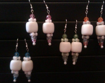 Marshmellow dangle earrings