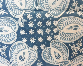 Teripang / Organic Dye Indigo Handwritten Batik Fabric, Indonesian Batik, Cotton, Indigo Blue Batik, For Clothing, Sewing, Sarong, Dress