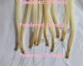Micro loop iTip Blonde hair extension streaks & highlights by Powdered 10 Strands