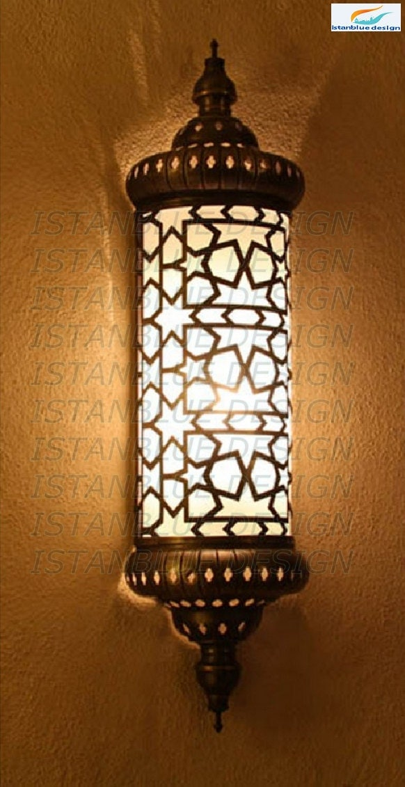 Turkish Handmade Laser Cut Ottoman Wall Lamp Wall Sconce Etsy