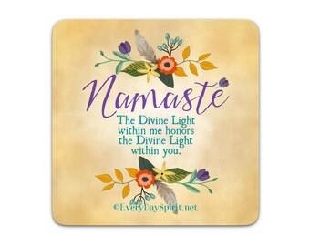 Every Day Spirit Magnet / Namaste / Fridge Magnet / Inspirational Quote / Refrigerator Magnet