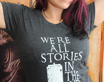 Stories Shirt.  American Apparel women's fitted 50/50 tshirt, size small and medium