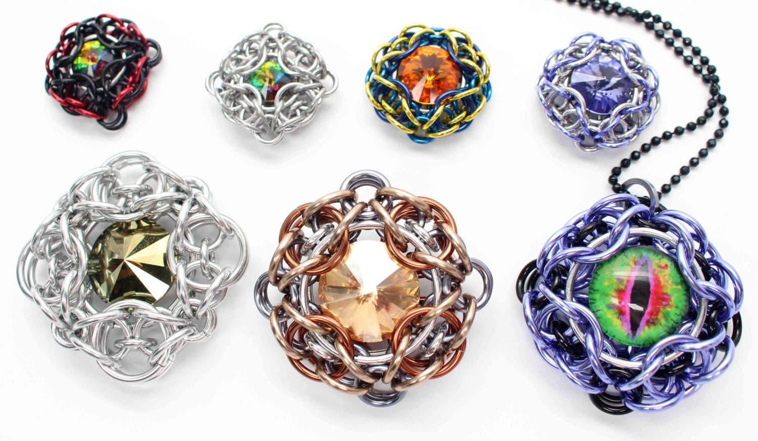 Forward unto dawn pendant tutorial chainmaille rivoli or forward unto dawn pendant tutorial chainmaille rivoli or cabochon setting 4 sizes digital download mozeypictures Image collections