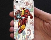 Iron Man Marvel Comic The Avanger - fiestastar, iPhone 4/4s/5/5s/5c/6, iPad 2/3/4, iPod 5th, Samsung Galaxy S3/S4/S5, Rubber / Plastic Case