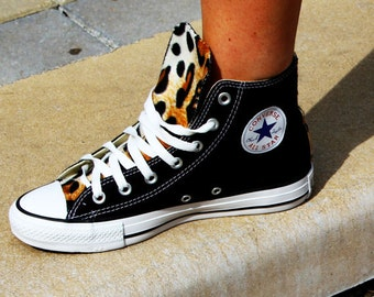 Leopard Print Converse Shoes