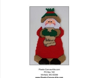 Believe Santa Wall Hanging-Plastic Canvas Pattern- PDF download