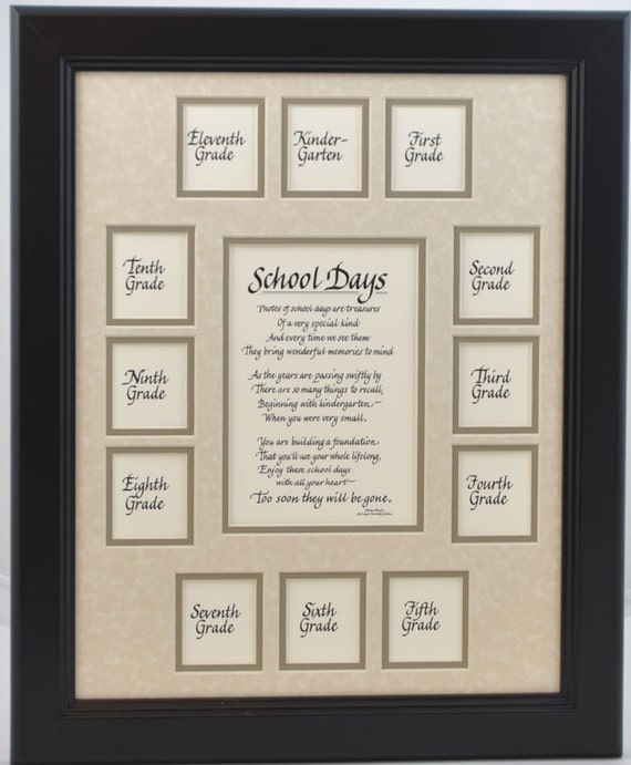 11x14 School Days Wood Picture Frame K 1213 Openings Black