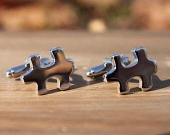 Puzzle Piece Enigma Cufflinks