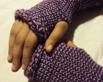 Handmade Fingerless Knitted Gloves