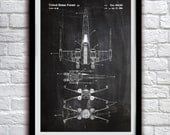 Star Wars X-wing - Action Figure Toy Decor - Patent Print Poster Wall Decor - 0128