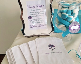 The perfect cookie or candy buffet favor bag!