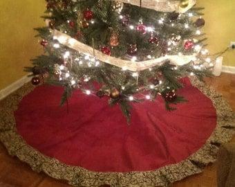 Custom/handmade Christmas tree skirt