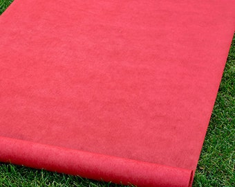 "Stunning Red Aisle Runner ""Weddings"""