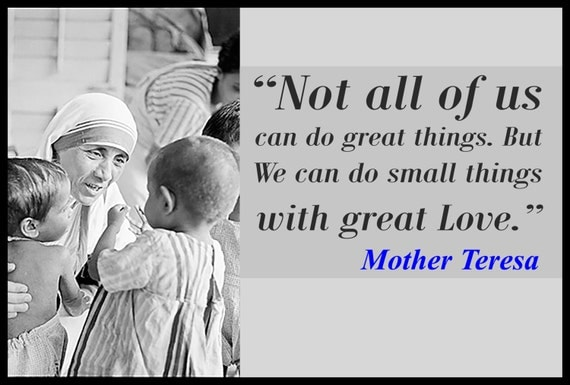 Mother Teresa Quote 24 X 36 Poster On Ultra Board With