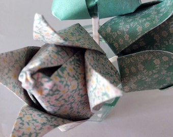 Cute and Colourful Origami Paper Tulips - Perfect for Gifts and Table Decorations