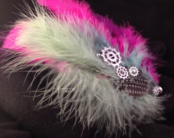 Pearl feather hairpiece
