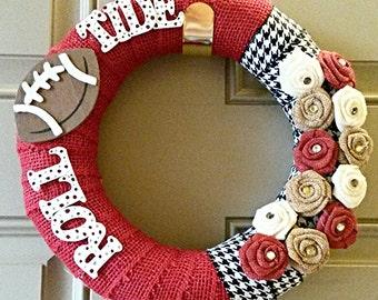 Roll Tide custom made wreath.