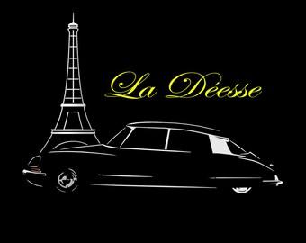 DS T Shirt Vintage Classic Car Gaphic Design NEW S - 5XL