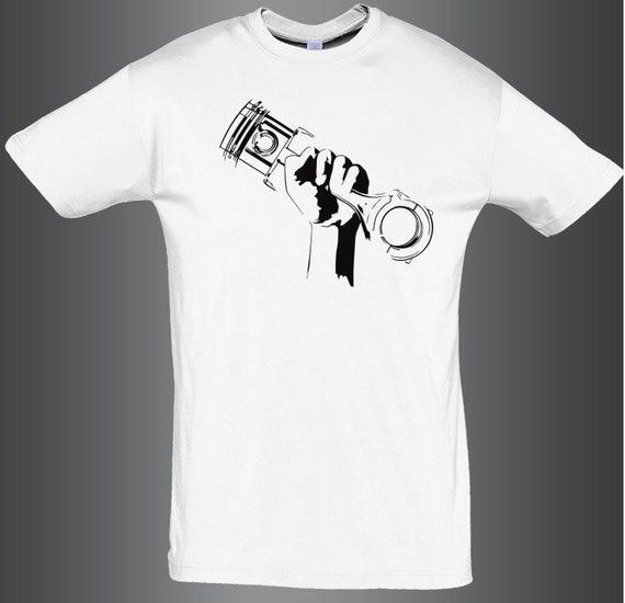 Piston Revolution Turbo T Shirt Boost Jdm Tuning By