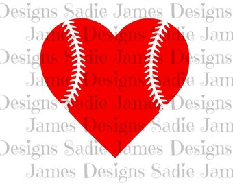 Heart baseball laces SVG and Silhouette Studio cutting file, Instant Download