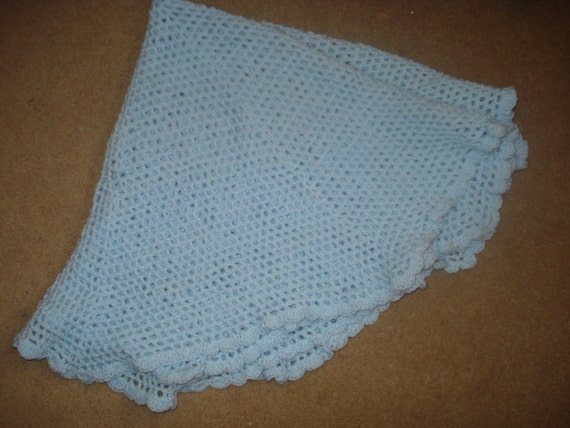 Crochet Pattern For Baby Roller Skates : Items similar to Crochet Circular/Round Pale Blue Baby ...