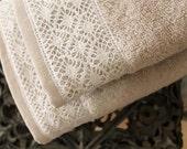 Best handmade gift, Lace Hand towel, French Lace Ice Grey Bath towel, 50x90 Towel, Turkish towel