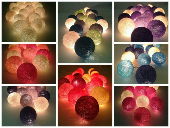 20 Hanging Cotton Ball Home Decor Ceiling Lights By Cmlights