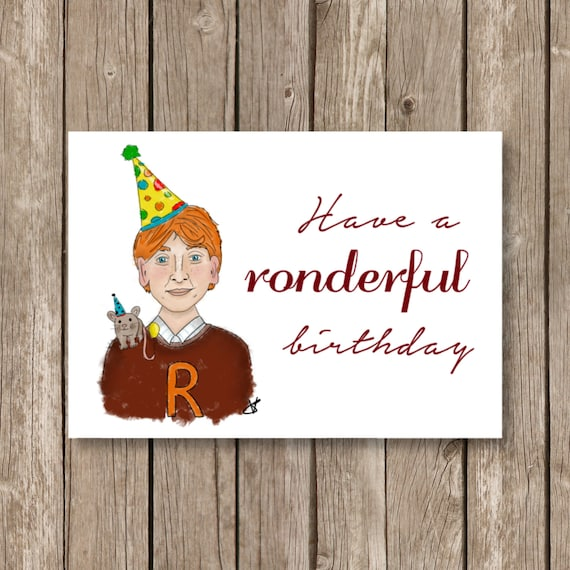Printable Birthday Card Harry Potter Ronderful By OhIneedthis
