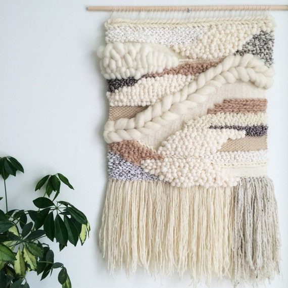 Woven Leaves Wall Decor : Woven wall hanging handmade tapestry art