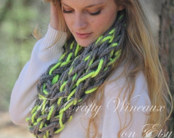 Choose Your Color! - The Moranel Infinity - A Fun, Color-Pop, Extra Wide-Knit, Double-Wrap Infinity Scarf