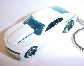 3D Chevrolet Camaro COPO custom keychain by Brian Thornton keyring key chain finished in white
