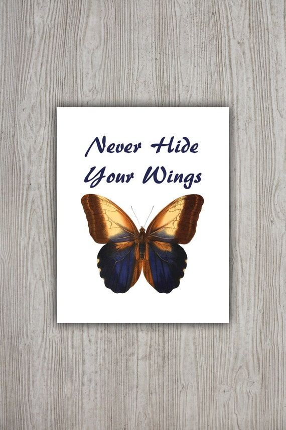 Butterfly Quote Motivational Poster Printable Butterfly Wall
