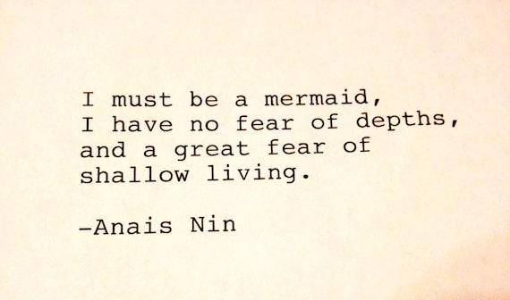 Anais Nin- Hand Typed Typewriter Quote