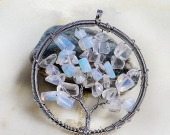 Tutorial ethoras tree of life pendant from ethora on etsy studio wire wrapped opal tree of life pendant charmsupplies for jewelry making mozeypictures Choice Image