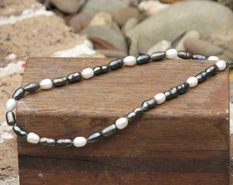 Fresh Water Pearls Necklace, White, Green, Brown, Clasp, String, Handmade, Elegant, Jewellery, Pearls, Necklet