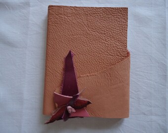 Notebook in leather - 16,5cm x 12 cm