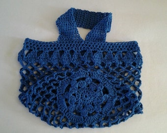 Tote / Market Bag, crocheted in pure Cotton