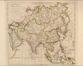 24x36 Poster; Map Of Asia 1814