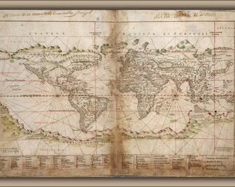 24x36 Poster; Map Of The World 1630
