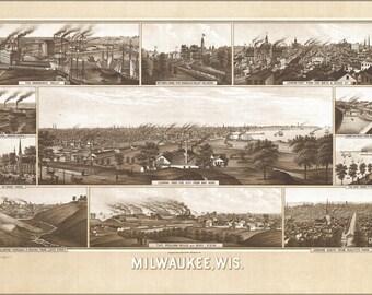 24x36 Poster; Milwaukee Wisconsin 1882