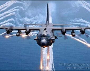 24x36 Poster; Ac-130 Spectre Gunship P2