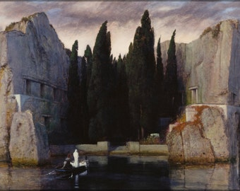 24x36 Poster; Isle Of The Dead By Arnold Bocklin